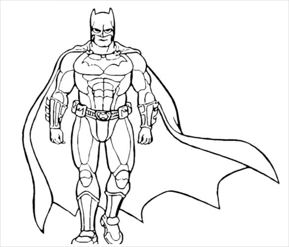 batman the hero coloring page pdf free download