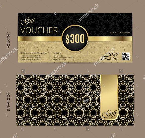 luxury golden and black birthday coupon template with vintage ornament
