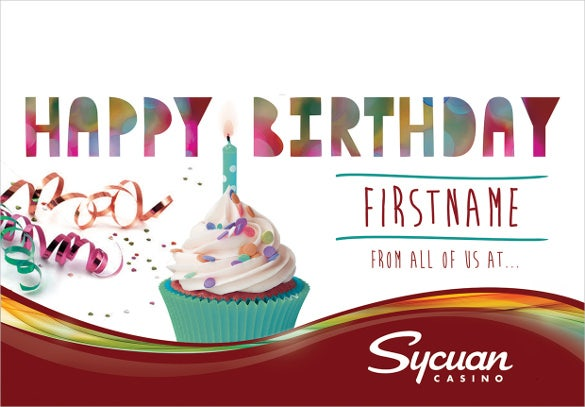attractive birthday coupons template
