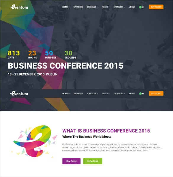 conference event wordpress website theme