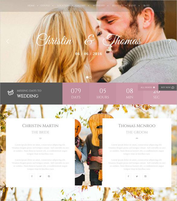 multipurpose for wedding event website wp theme