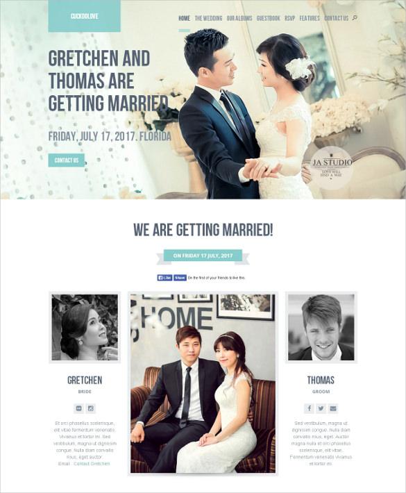 wedding event wordpress website theme