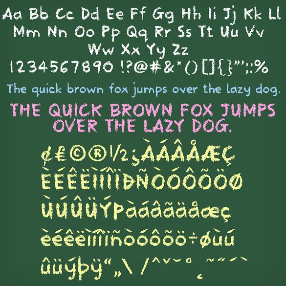 school type lettering chalkboard font download