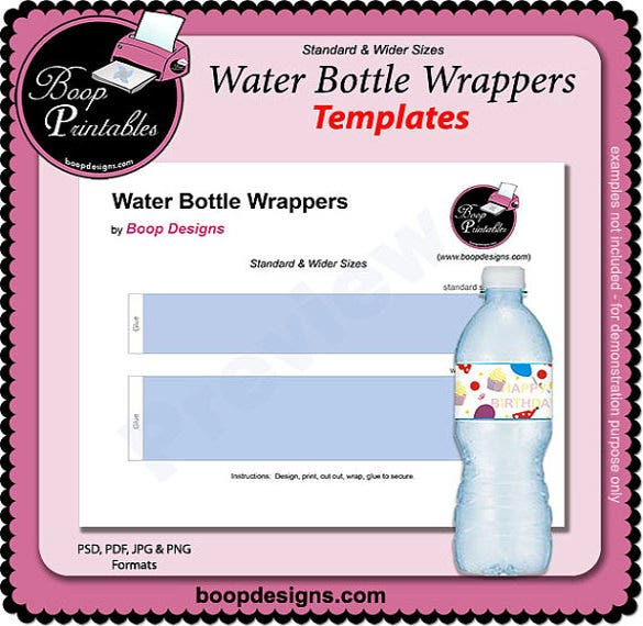 boop printable water bottle template