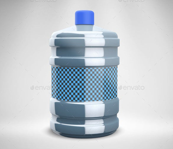water bottle psd template