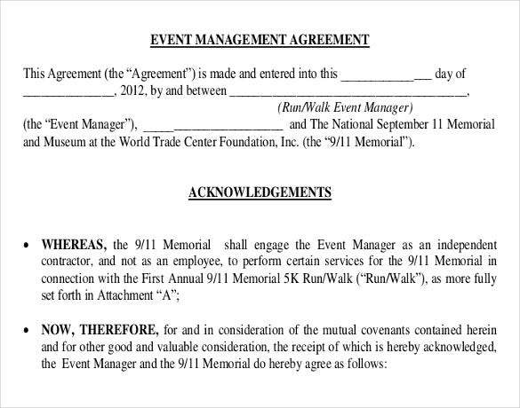event management agreement template event contract template 16 free word excel pdf