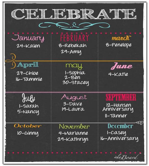 download free software birthday calendar template