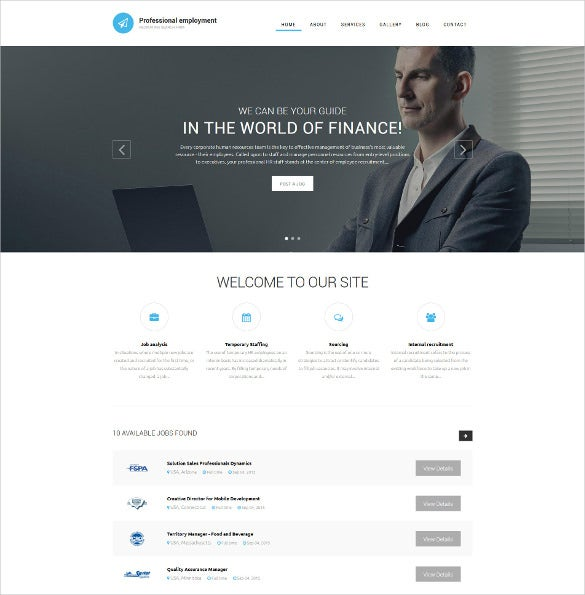 job portal website html template  19  Job Portal HTML5 Themes