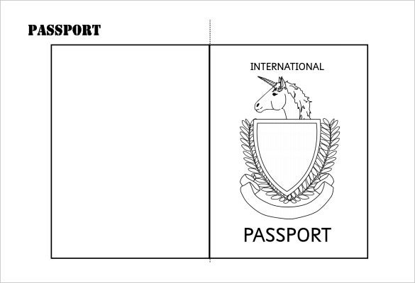 Passport template 19 free word pdf psd illustrator format minimally designed the simple printable double sided passport writing frame is easy to customize and it is also print ready it comes with editable font pronofoot35fo Image collections