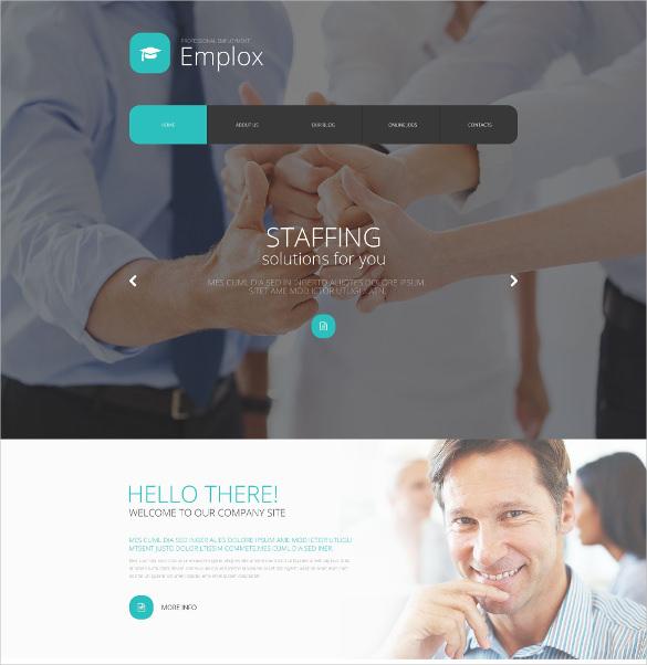 employee job portal joomla html5 template