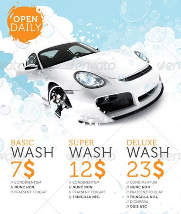 car wash flyers 40 free psd eps indesign format download free premium templates. Black Bedroom Furniture Sets. Home Design Ideas