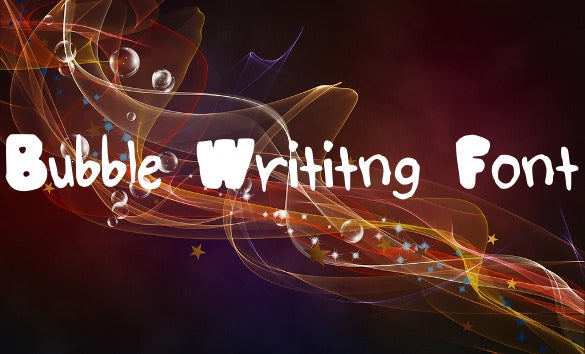 bubble writing font download
