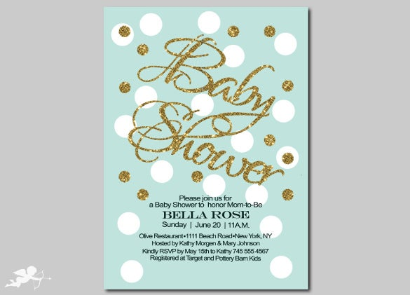 sprak design baby shower invitation template