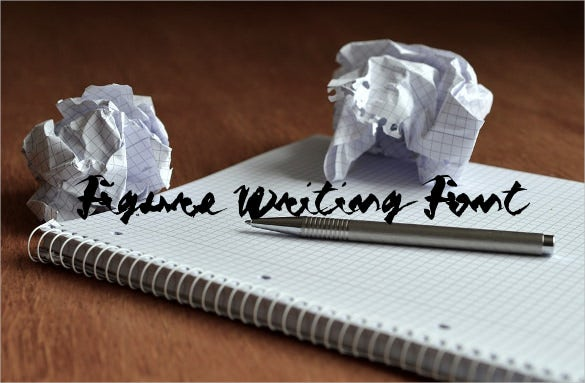 figure writing font download