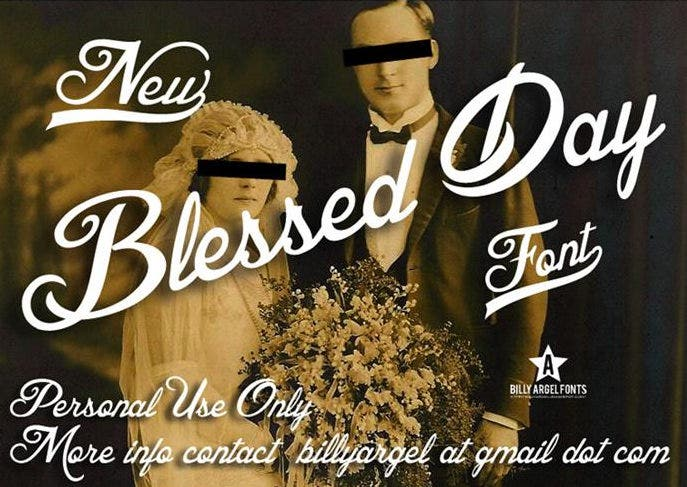 blessed day writing font download