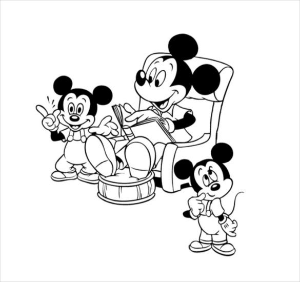 mickey mouse and friends coloring page pdf free download