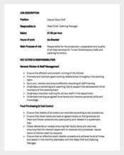 Casual Sous Chef Job Description Sample PDF Template