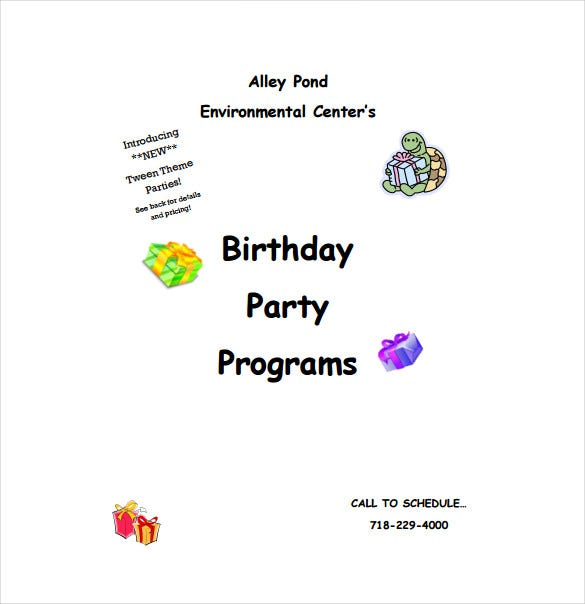 birthday program template pdf format free download