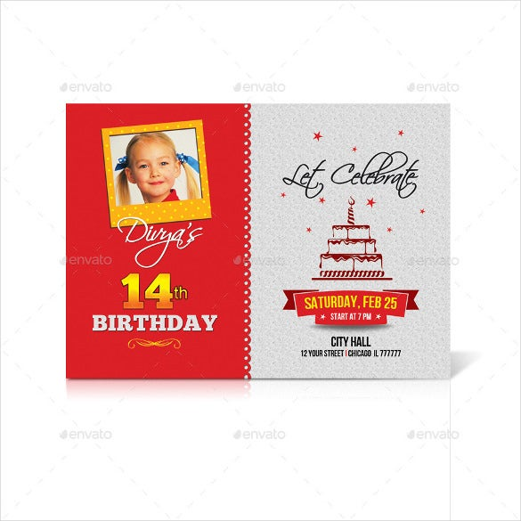 birthday program invitation template download