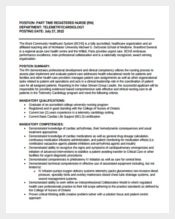 Part Time Registered Nurse Job Description Sample