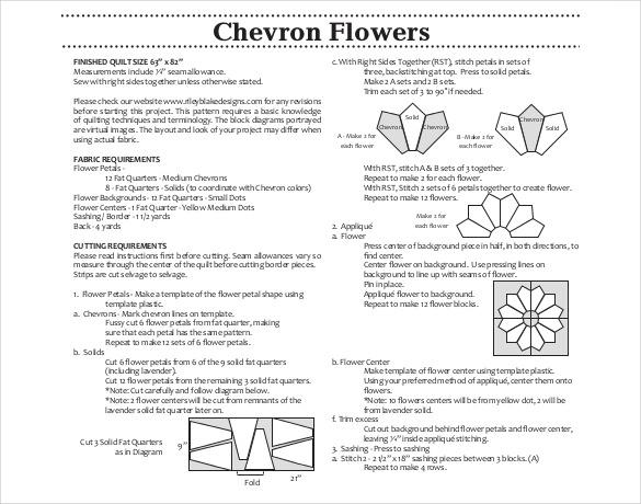 pdf format free chevron flowers petal template