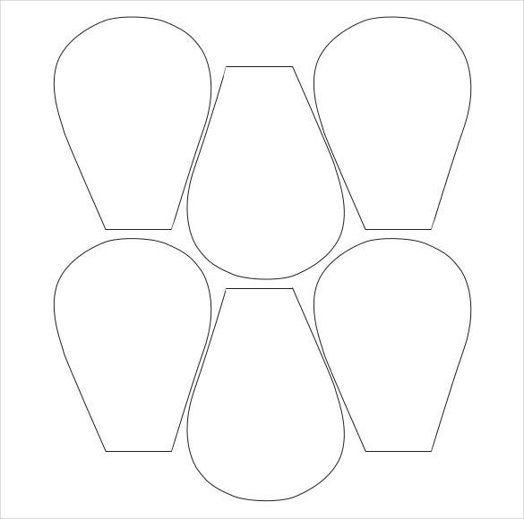 Crafty image for printable flower petal