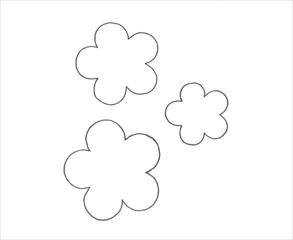 five petal flower template free download doc format