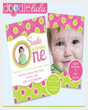 Pink Green Polka Dots 1st Birthday Download