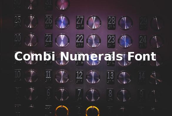combi numerals font download