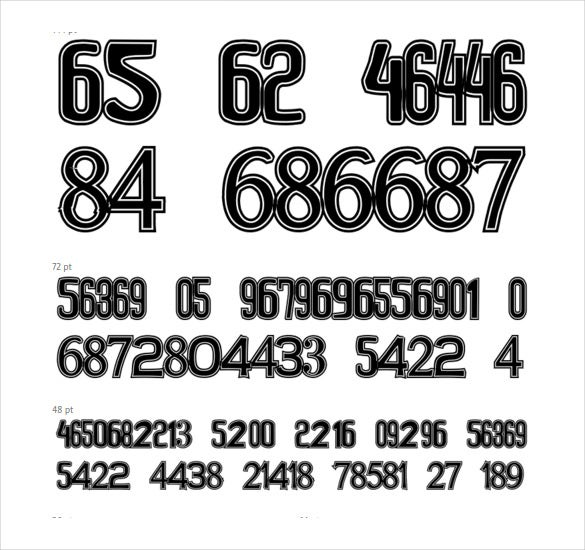 font for numbers download