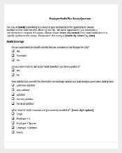 Employee Health Plan Survey Questions Word Document