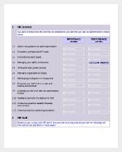 Excel Template Download for HR Satisfaction Survey