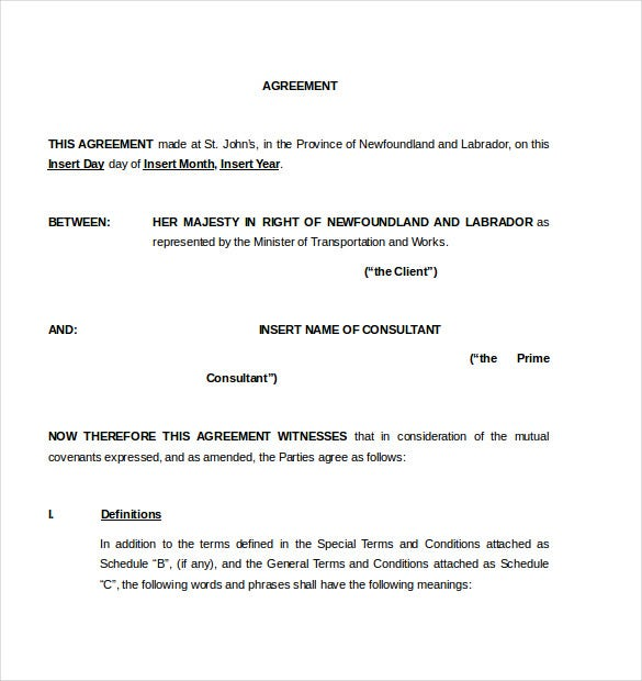 Consulting Agreement Template 10 Free Word Pdf Document Download