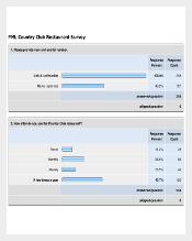 PML Country Club Restaurant Survey Template