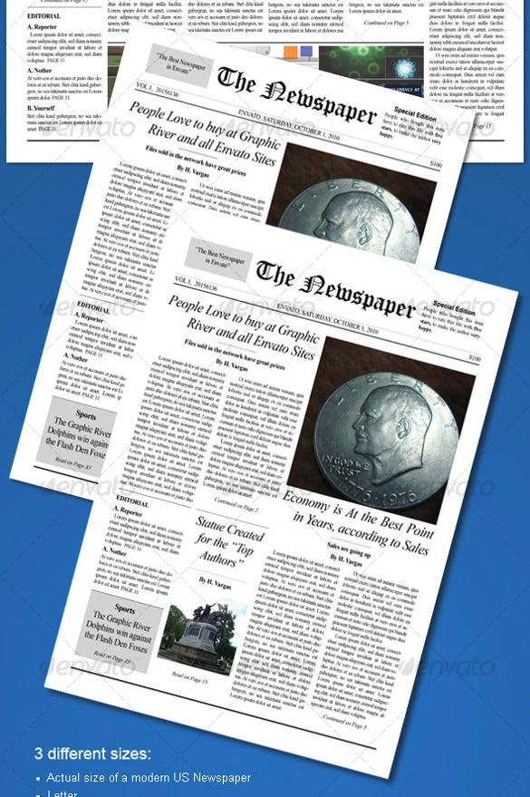 Old Newspaper Template Old Newspaper Template Psd Indesign And Ai