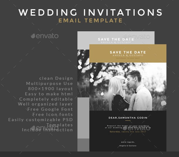 Email Invitation Templates Free PSD Vector EPS AI Format - Wedding invitation templates: free electronic wedding invitations templates