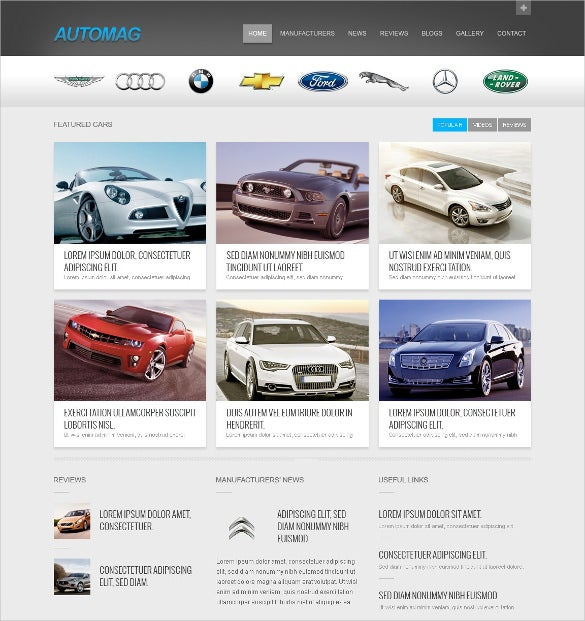 Creative Car Dealer Website Template