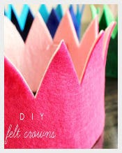 Customized Birthday Crowns Template free