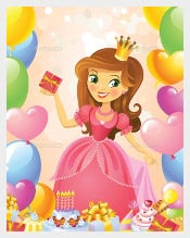 Happy Birthday Princess Crown Template free