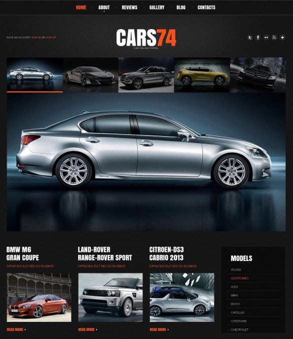 corporate car dealer wordpress website theme