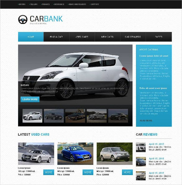 car dealer moto cms html website template