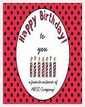 Corporate Birthday Coupon Template