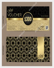 Luxury Golden&Black Birthday Coupon Template free