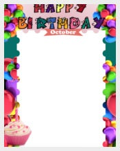 Colorful Birthday List Template free