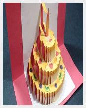 Birthday Cake Pop Up Free Template free