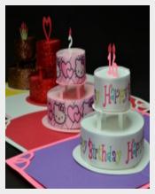 Birthday Cake Up Card Template free