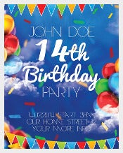 Birthday Party Flyer Template PSD free