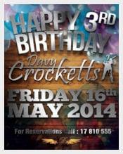 Pub Birthday Event Flyer download
