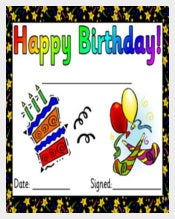 Printable Birthday Certificates download