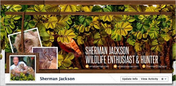 wildlife facebook timeline cover template psd format1